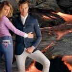 Camicia donna in cotone elasticizzato modello Pepe, Giacca uomo in tessuto silverdry modello Illusion - Animo